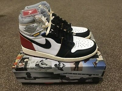 bb42d7dde09d Nike Air Jordan 1 Retro High X Union LA Black Toe DS UK 8.5 US 9.5