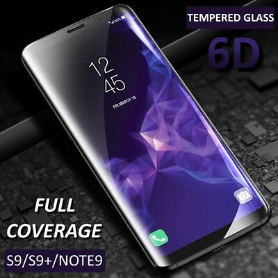2X Samsung Galaxy S9 S8 Plus Note8 9 Full Cover Tempered Glass Screen Protector