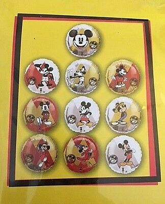 Disney D23 Gold Member Exclusive (10) Foil Balloons Mickey Through the Years New