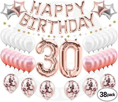 30th Birthday Decorations Rose Gold 30 Party Supplies Dirty Thirty