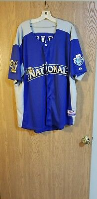 Ryan Braun Milwaukee Brewers 2012 All-Star Majestic Cool Base Jersey Sz. 54 EUC
