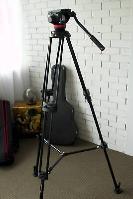 Black Manfrotto Professional Tripod in excellent condition