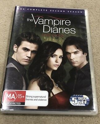Vampire Diaries : Season 2 (DVD, 2011, 5-Disc Set) Very Good Condition Region 4