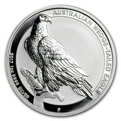 2017 Perth Mint Australian Wedge Tailed Eagle 1oz Silver .9999 Bu Coin unc.