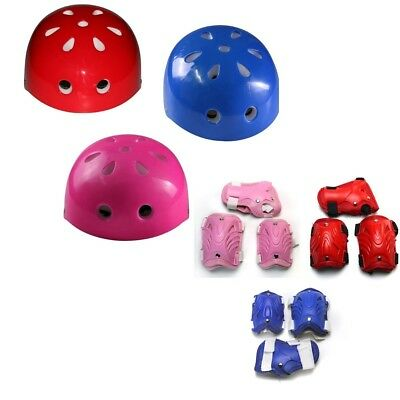Kid Child Cycling Roller Skate Sport Knee Elbow Wrist Protective Pad +Helmet Set