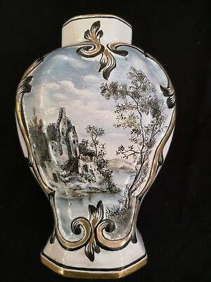 Ancien Vase En Faience De Saint Clement / Ceramique