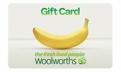 Woolworths gift- cards.