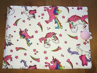 Handmade Baby Health Record Book Cover for the Red NHS Book - Unicorns