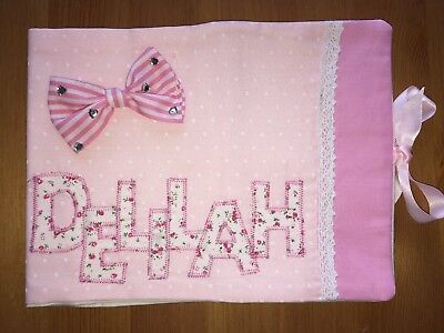 Personalised Handmade Baby Health Record Book Cover (for the Red NHS Baby Book)