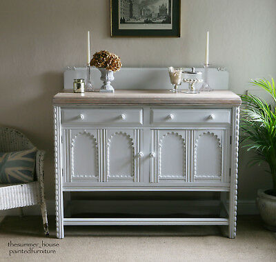 Vintage Painted Shabby Chic Sideboard Cupboard Dresser Fired Earth