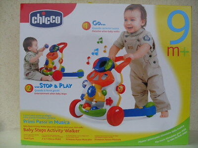 baby steps activity walker boy girl primi passi musica pasos trotteur gym chicco