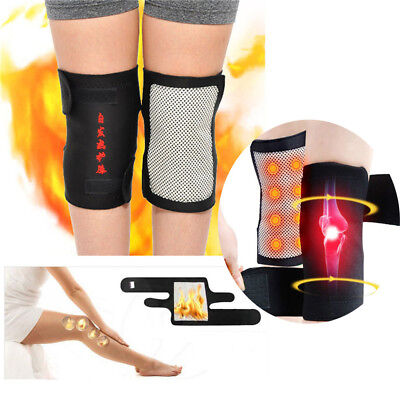 Pain Relief Magnetic Tourmaline Knee Pad Support Belt Brace Heating Therapy