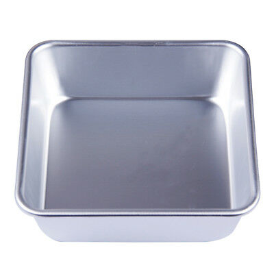 4/6/8'' Square Cake Pan Tins Aluminum Alloy DIY Baking Mold Mould Bakeware Tray