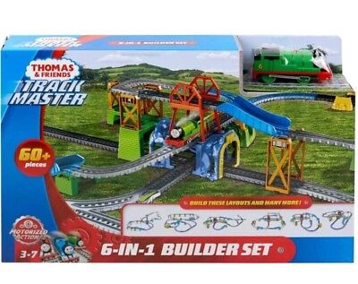 Thomas & Friends TrackMaster 6in1 builder 60+pc include 1Percy