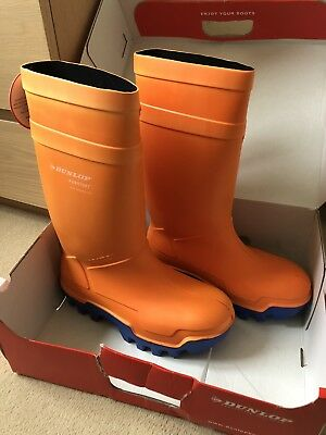 Dunlop Orange Purofort Thermo Plus Full Safety Wellies, Size 10, C662343