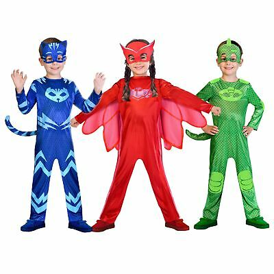 PJ Masks Owlette Catboy Gekko Fancy Dress Costume Book Week Girls Boys Kids