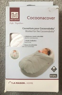 Red Castle Cocoonababy Blanket A White Quilted Cocoonacover 100% Cotton