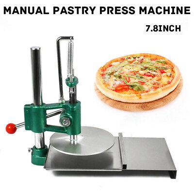 "7.8"" Pizza Dough Pastry Manual Press Machine Roller Sheeter Pasta Maker US Stock"