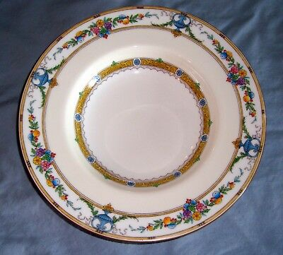 """Minton HELENA 7-3/4"""" SALAD PLATE  Flowers, Fruit, Urns, Yellow Bands"""