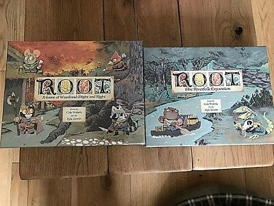 Root board game & Riverfolk expansion ready to ship BNIB