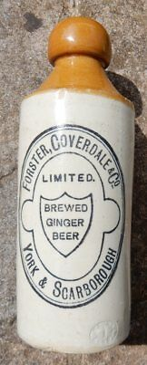 Very rare variation York Scarborough ginger beer Foster Coverdale