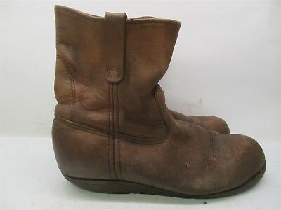 1dcf99970a7 RED WING 1155 Nailseat Brown Leather Western Work Vintage Boots Men ...