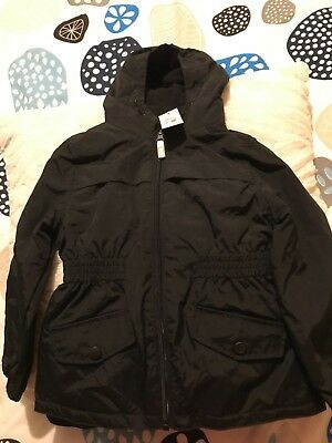 a1fb273201c34 Debenhams BLUE ZOO Girls  Black Fleece Lined Coat BNWT Unwanted Gift Age 5