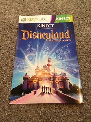 Xbox360 Manual Only (no Game) - Kinect Disneyland Adventures - Lovely Condition