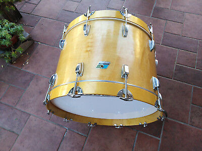 """LUDWIG 22"""" x 14"""" BASS DRUM NATURAL MAPLE VINTAGE 1979/80"""