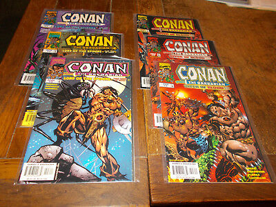 Conan the Barbarian - Lord of the Spiders 1-3, River of Blood 1-3 Ave VFN/NM