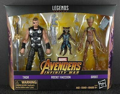 Avengers Infinity War Marvel Legends 6-Inch Thor, Rocket Raccoon and Groot 3Pk A