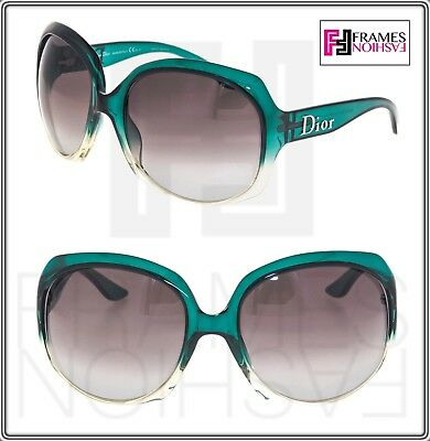 82d803fdf843 CHRISTIAN DIOR GLOSSY 1 Translucent Green Powder Oversized Gradient  Sunglasses
