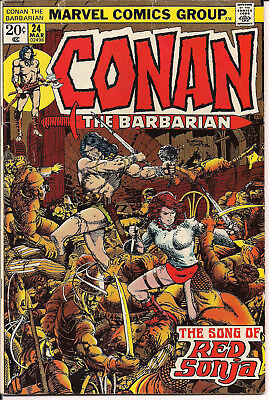 Conan 24 Marvel Comics 1973 1st Full Appearance Red Sonja Last Bary Windsor Art