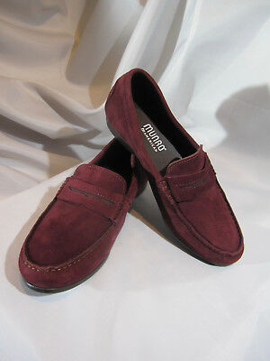 """594d82fce71 NWT MUNRO Womens  """"RAMIE"""" Burgundy SUEDE Penny LOAFERS Moccasins Sz 7.5 Wide"""