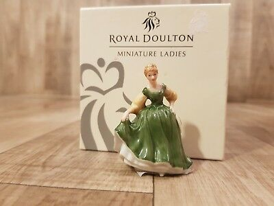 "NEW Nice Royal Doulton Green Dress ""Fair Lady"" Figurine Statue M242"