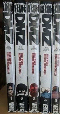 DMZ Deluxe Editions Volumes 1-5 Hardcover HC Brian Wood, Riccardo Burchiel 2,3,4