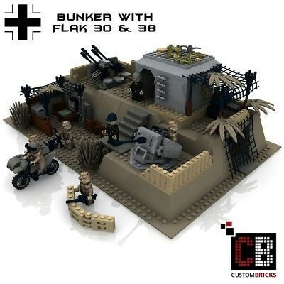 ONLY INSTRUCTION-ISTRUZIONI CUSTOMBRICKS WW2 Bunker Flak 30 & Flak 38