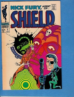 Nick Fury #5, 1968, FN/VF 7.0, Classic Cover