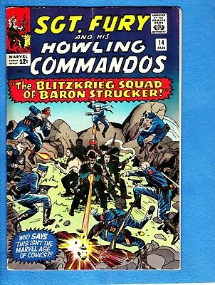 Sgt. Fury #14, 1965, VG/FN 5.0,first appearance Blitz Squad