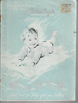 Baby Golden Eagle vintage knitting pattern book layette matinee sets 3 ply yarn