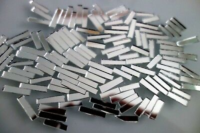 100 pcs Mosaic Silver Mirror off cuts pieces approx 2 x 0.5 cm, 2 mm thick