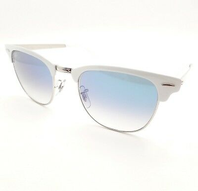 a485d24857 Ray Ban 3716 9088 3F White on Silver Blue Fade 51mm New Sunglasses Authentic