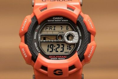 Casio G-Shock GULFMAN RESCUE (Moon Phase, Tide, Auto light) watch - orange/black