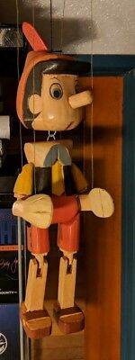 Pinnocchio Wood Marionette Figure - Approx 12 inches in length