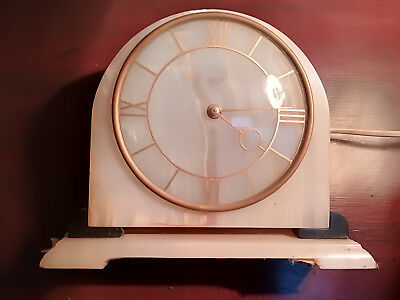 art deco marble clock a/f not working