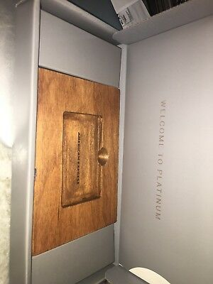American Express Platinum Welcome Package Wood Stand Amex Credit Card