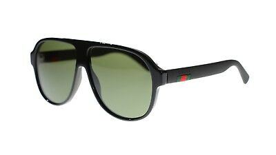 2f47c3db19 Gucci Men s Sunglasses GG0009S 001 Black Green Lens Aviator 59MM