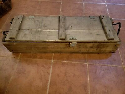 """Vintage Wooden 105MM Howitzer Military Ammo Box Ammunition Crate 37""""x12""""x7"""""""