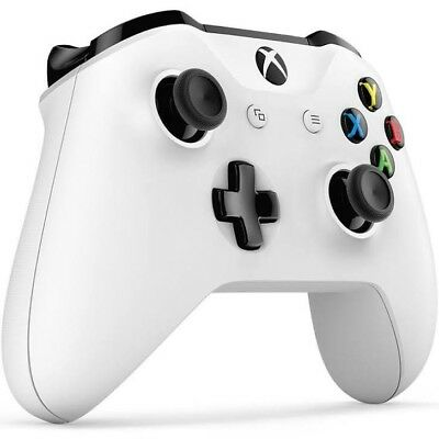 Microsoft Official Xbox One S Wireless Controller - White UNSEALED