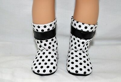 Our Generation American Girl Doll 18 Dolls Clothes Shoes White Black Spot Boots